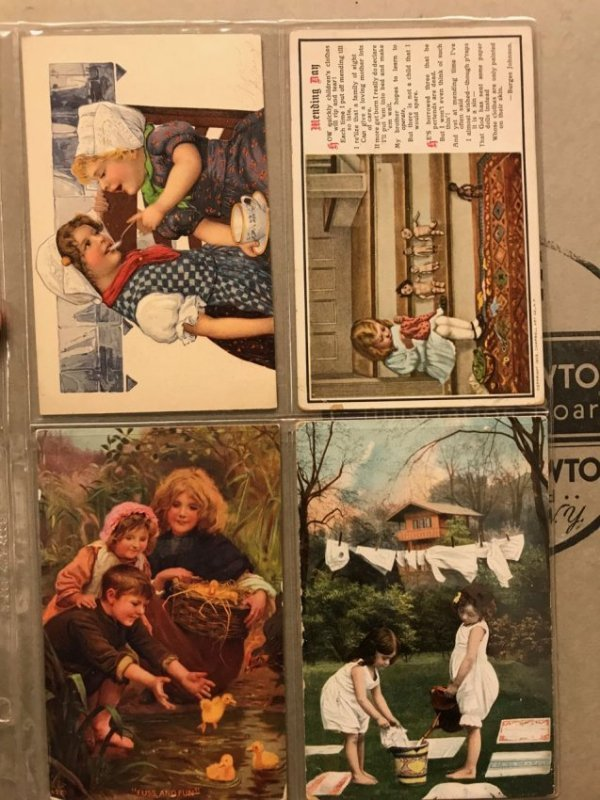 Large grouping of antique postcards - 4