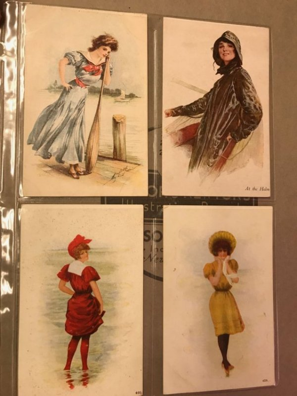 Large grouping of antique postcards - 5