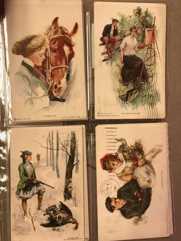 Large grouping of antique postcards - 6