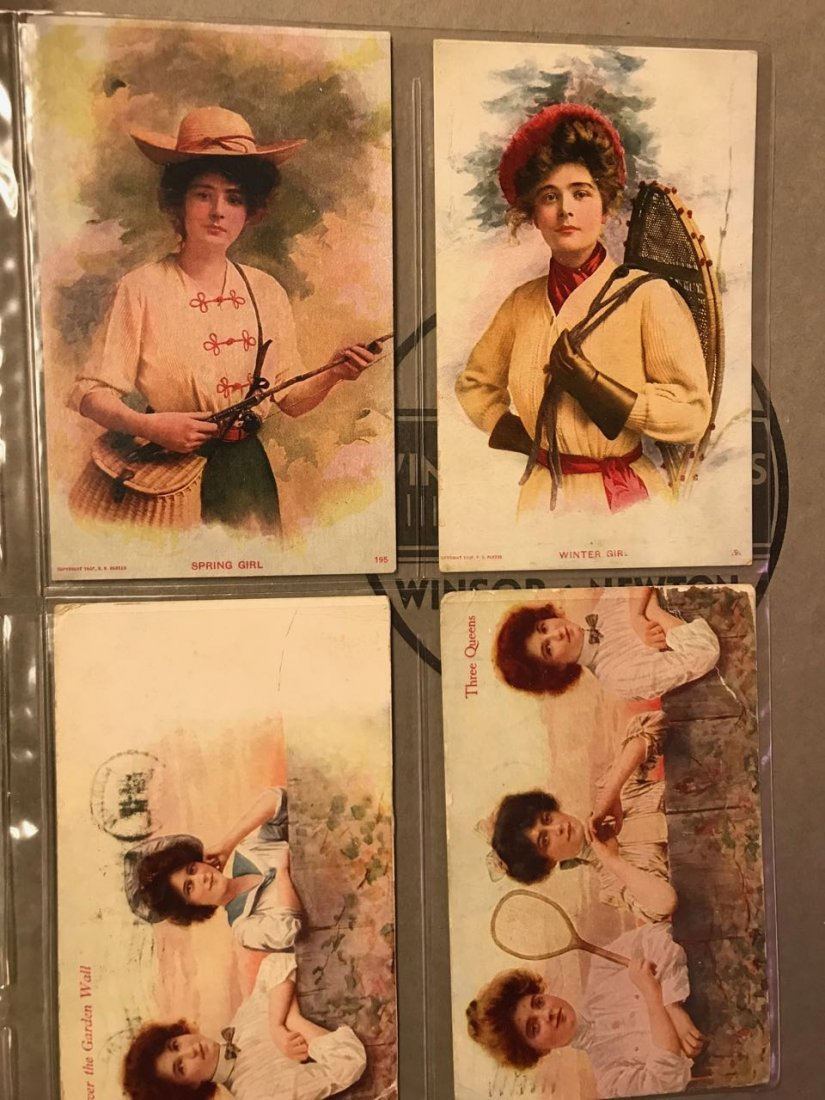 Large grouping of antique postcards - 8