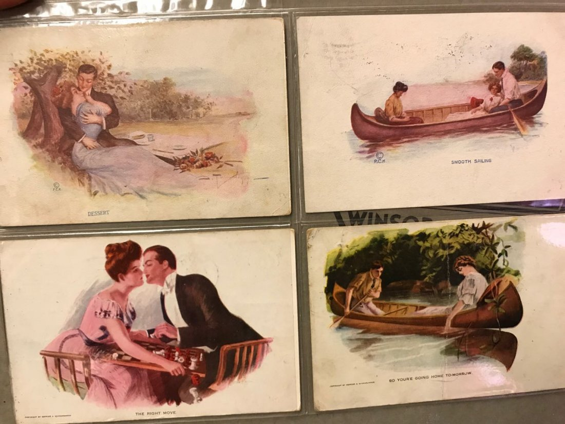 Large grouping of antique postcards - 9