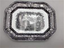 Mulberry transfer ware ironstone meat platter