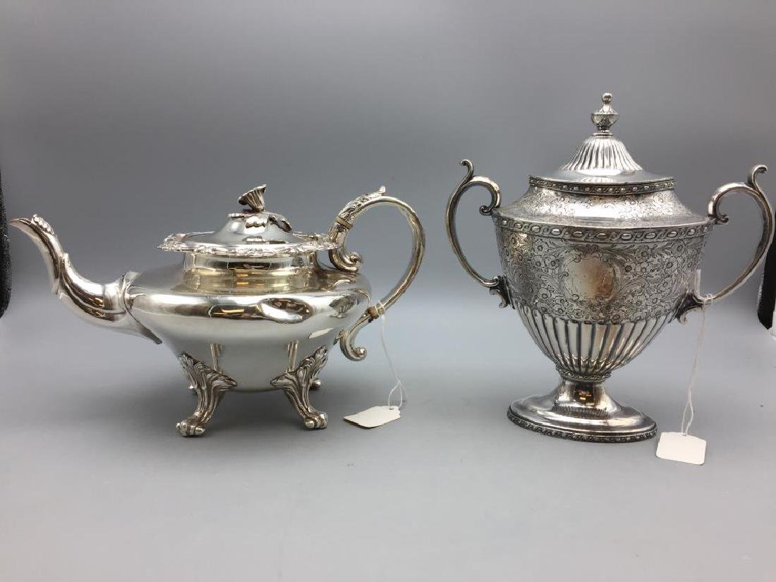 Lot of two silver plate items