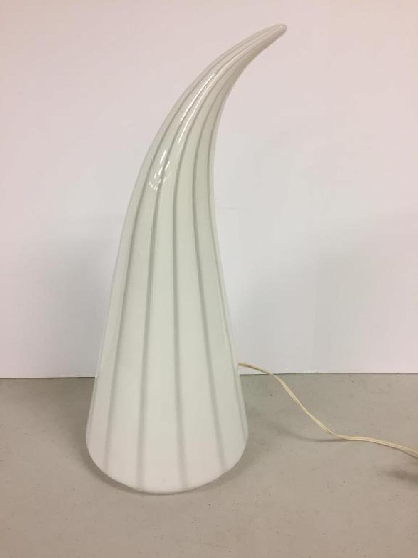 Mid Century Italian glass table lamp - 2
