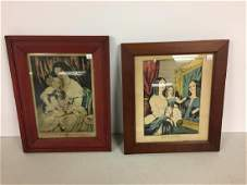 Lot of two early Currier prints