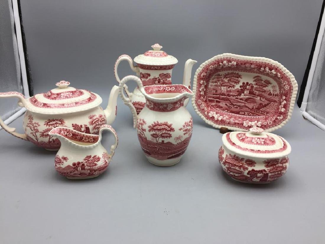 Spode Pink Tower china