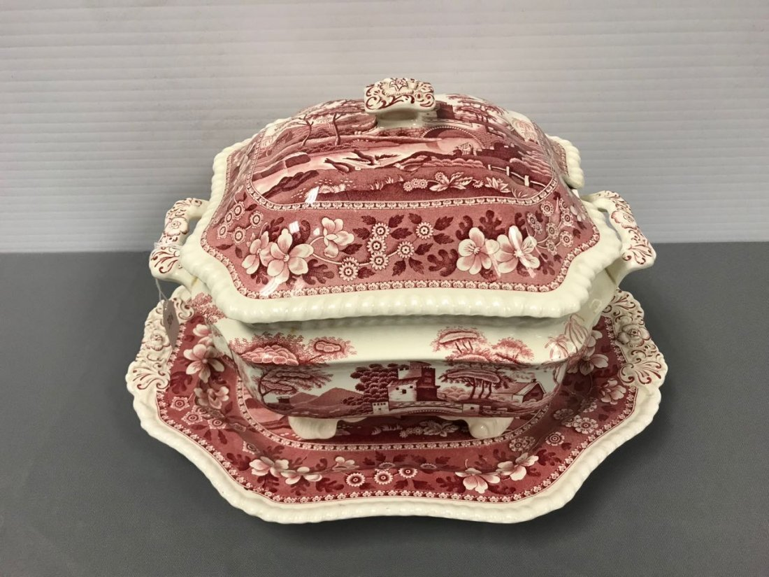 Spode Pink Tower  soup tureen - 2