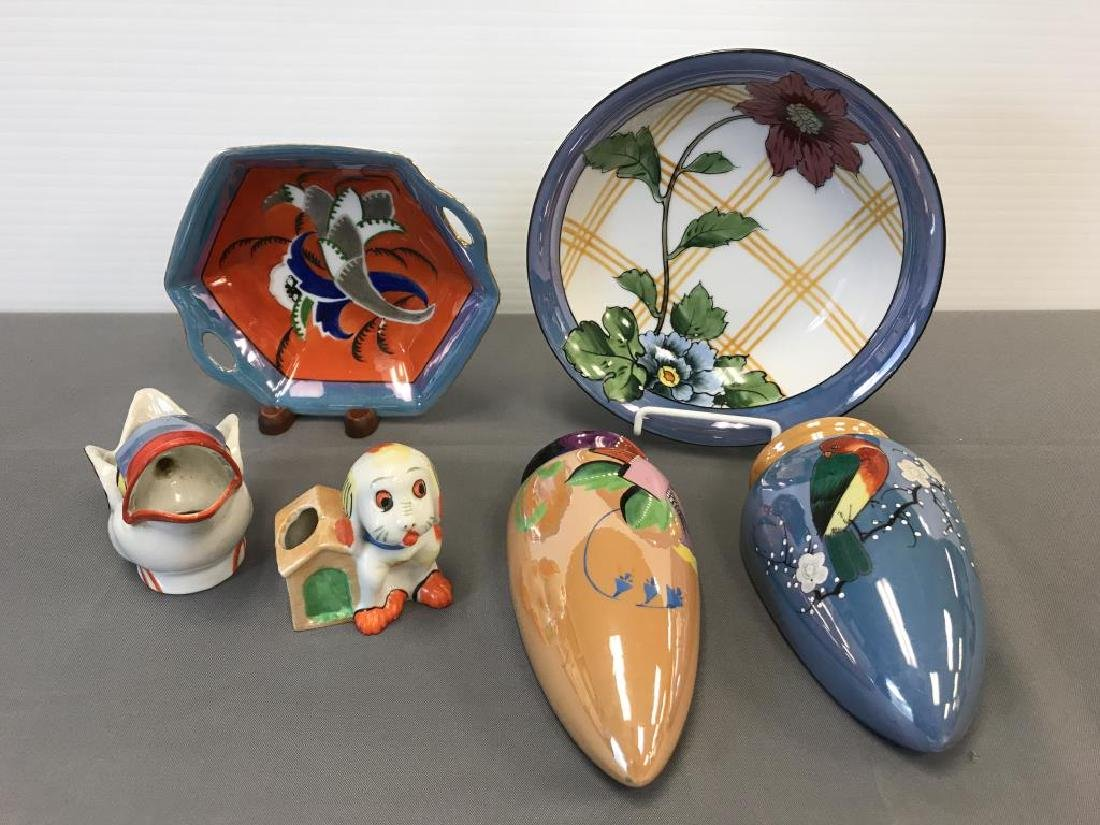 Noritake bowls and Japanese luster pieces