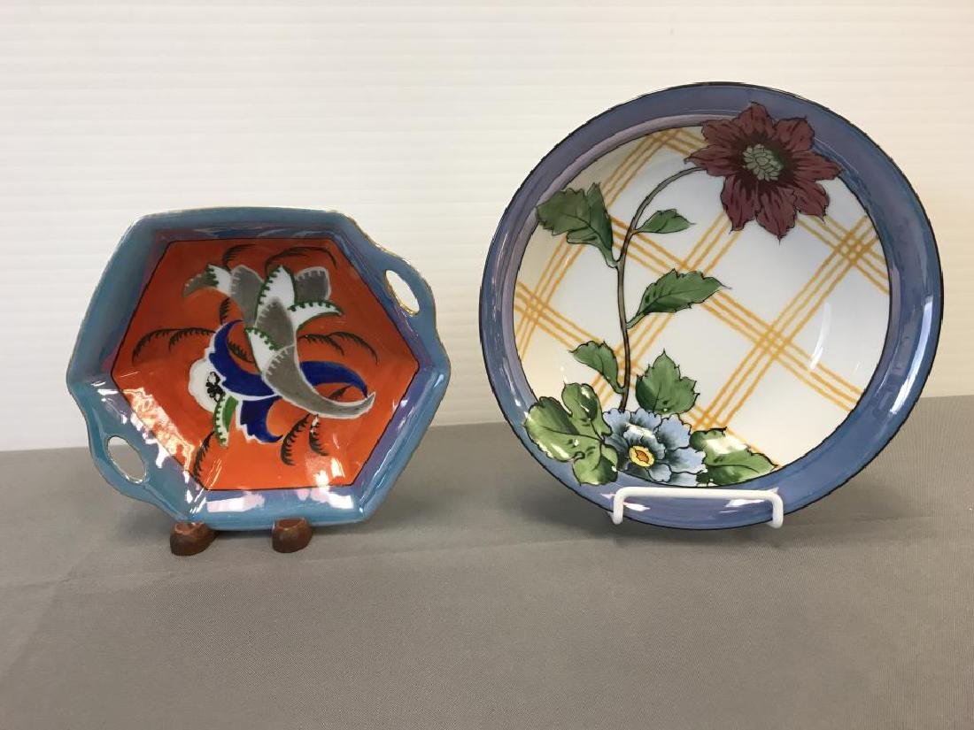 Noritake bowls and Japanese luster pieces - 4