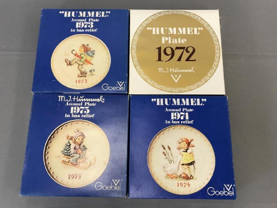 1972, 73, 74, 75 boxed Hummel plates