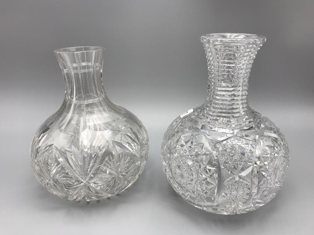 Cut glass decanters