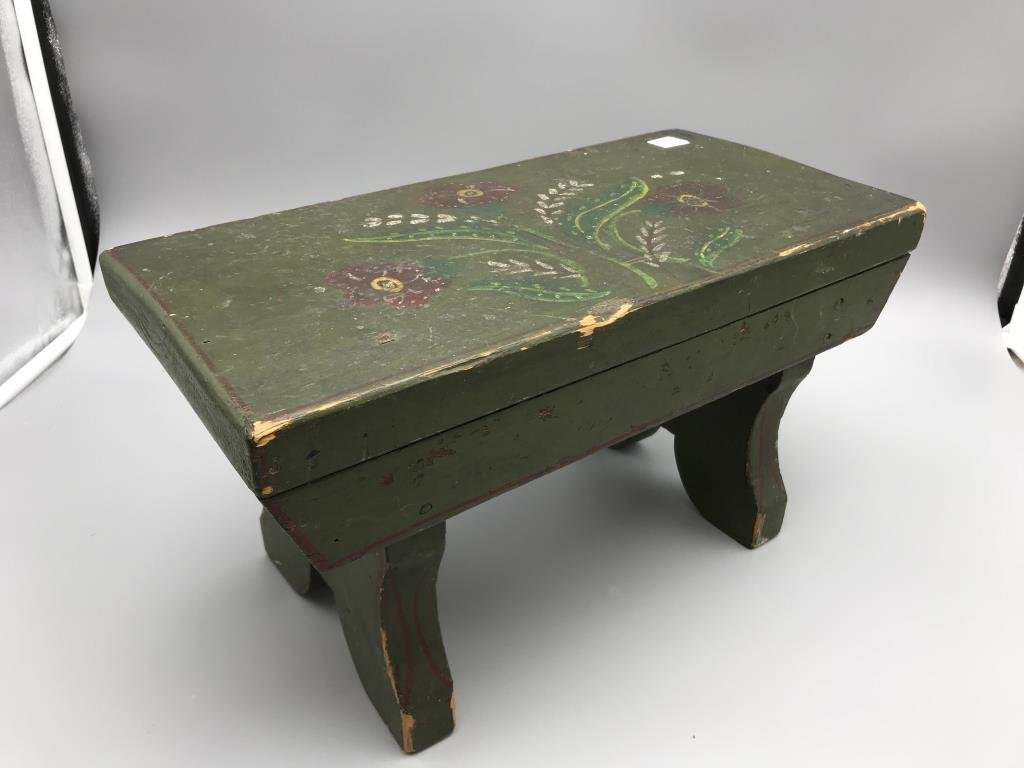 Painted foot stool