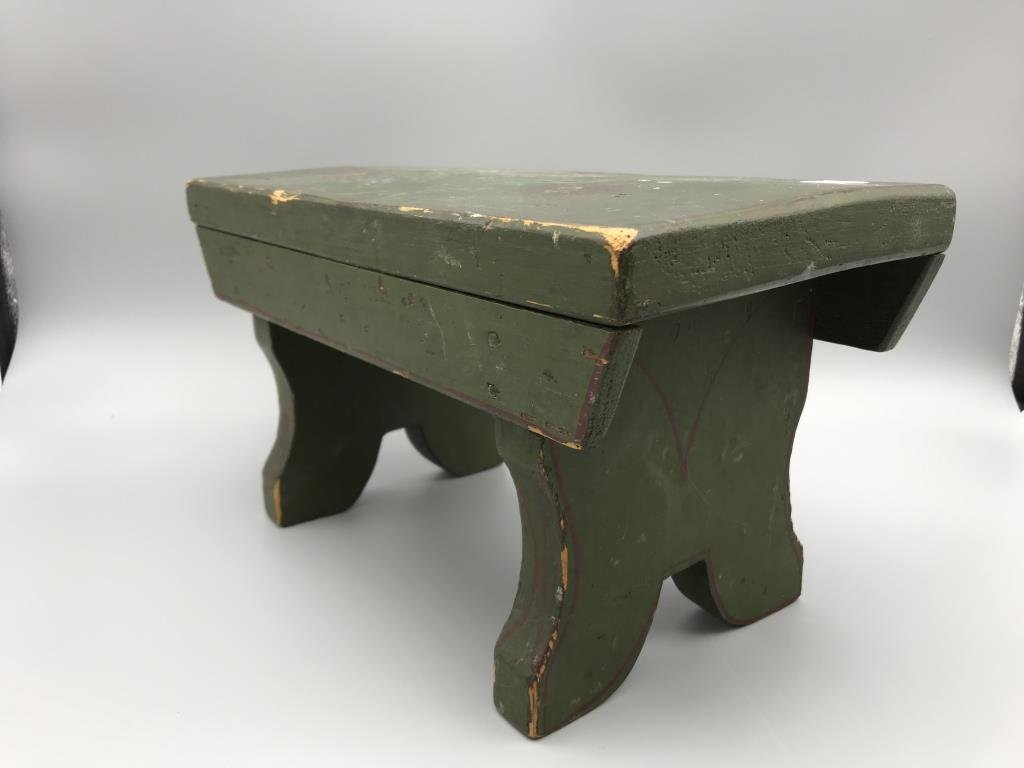 Painted foot stool - 4
