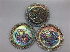 Fenton collector's plates & candlesticks