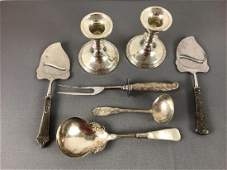 Sterling silver serving pieces and weighted