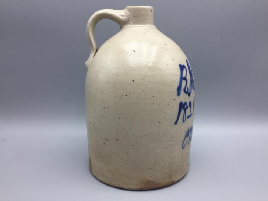 Becker new Brunswick nj blue decorated jug - 6