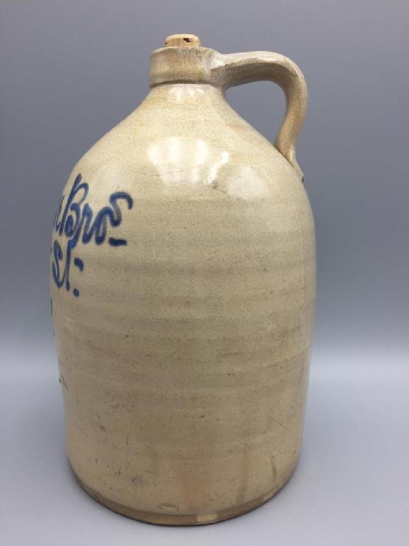 Flegenheimer bros blue decorated stoneware jug - 3