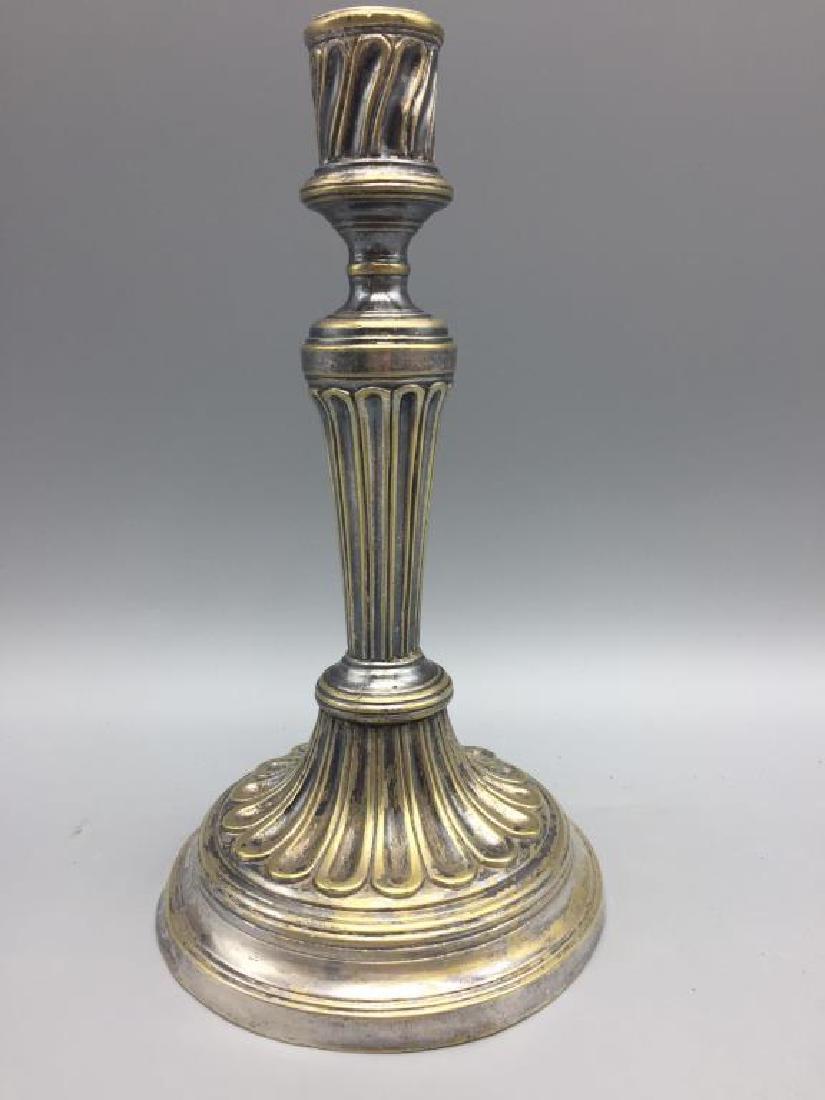 Four brass candlesticks - 8