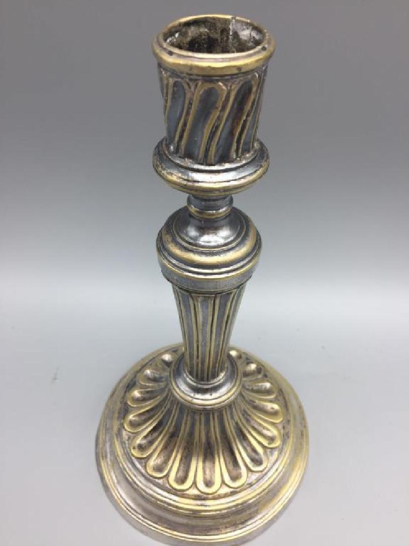 Four brass candlesticks - 9