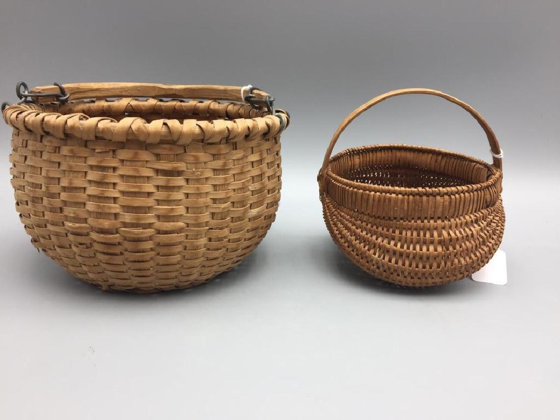 Two miniature baskets split Oak
