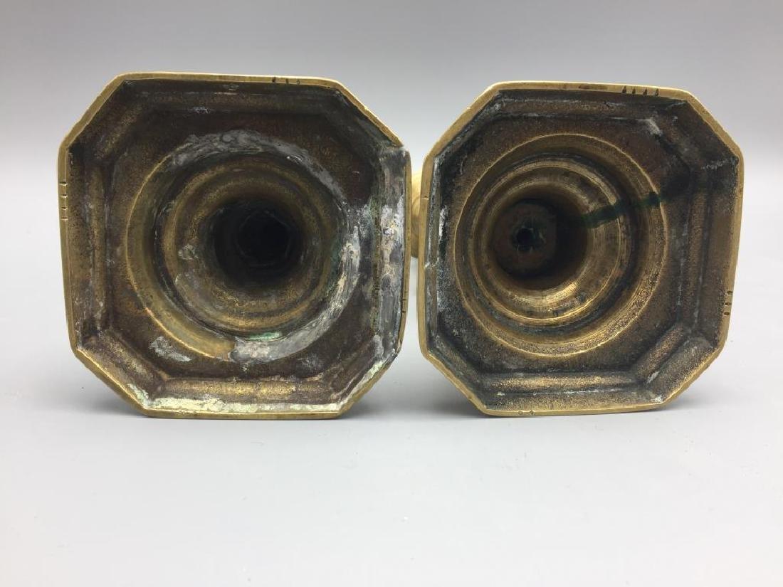 2 set of matching brass candlesticks - 7