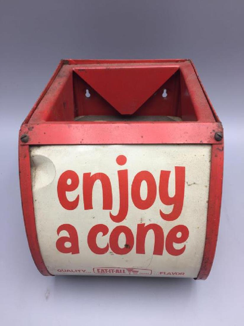 Eat it all ice cream cones display dispenser