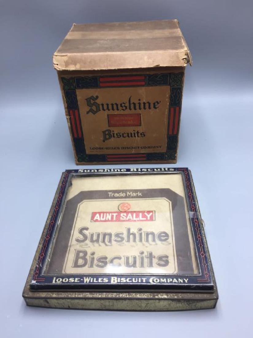 Sunshine Biscuit lid and box
