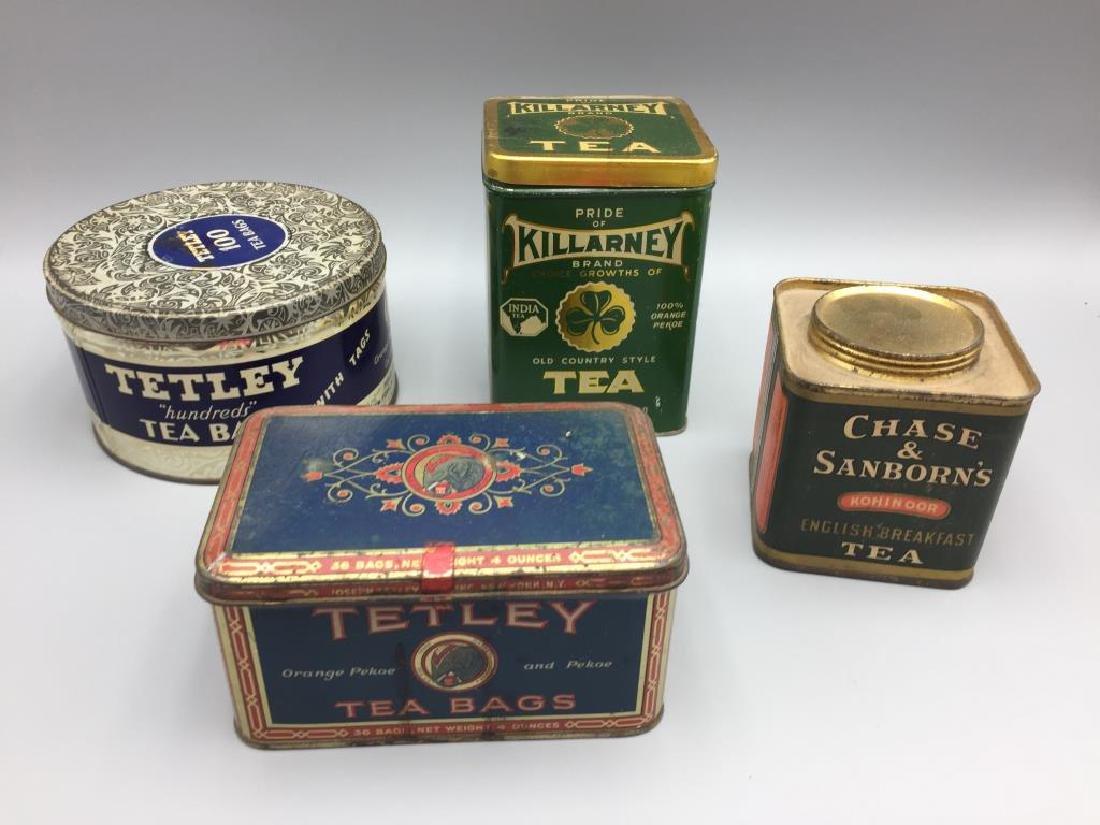4 Advertising Tea tins