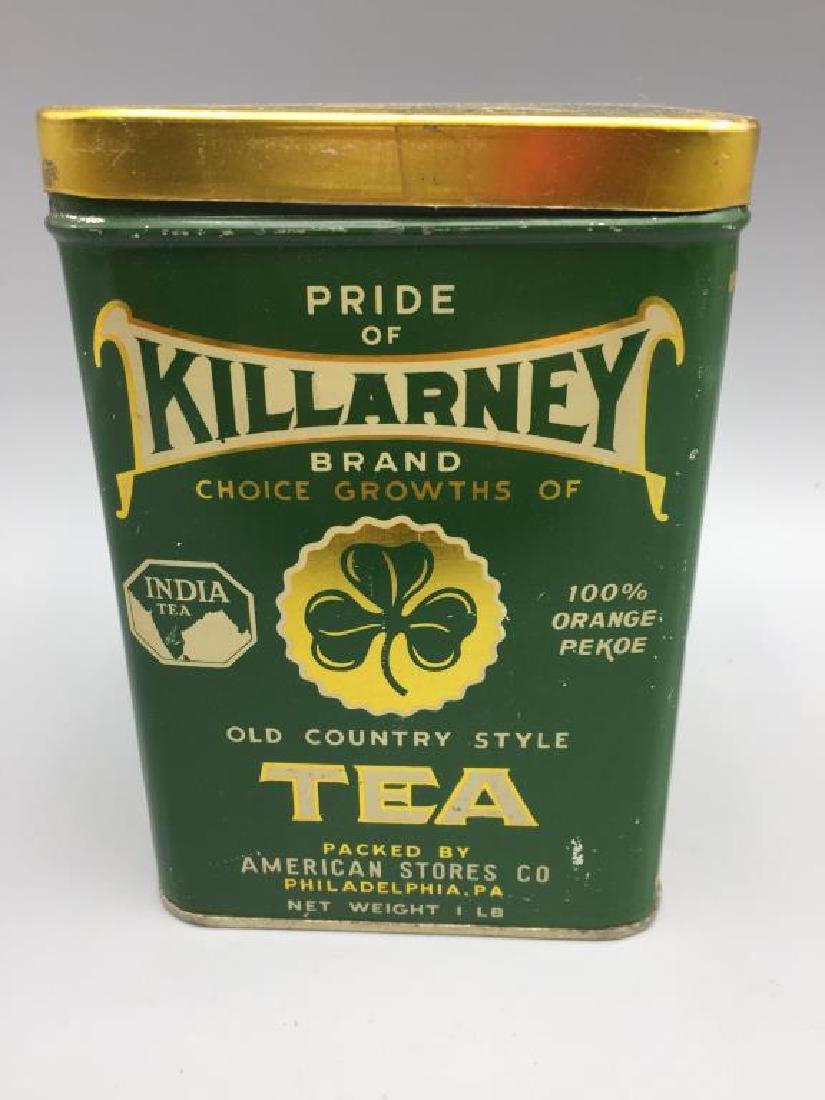4 Advertising Tea tins - 2
