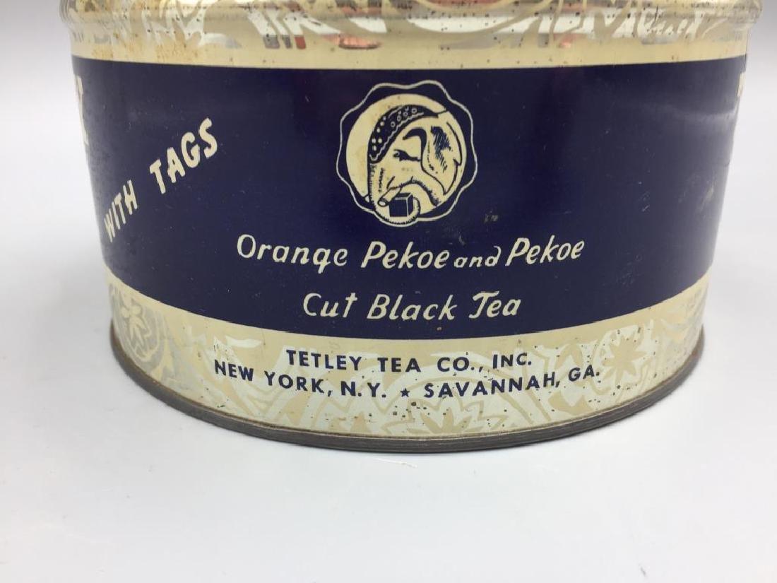 4 Advertising Tea tins - 8