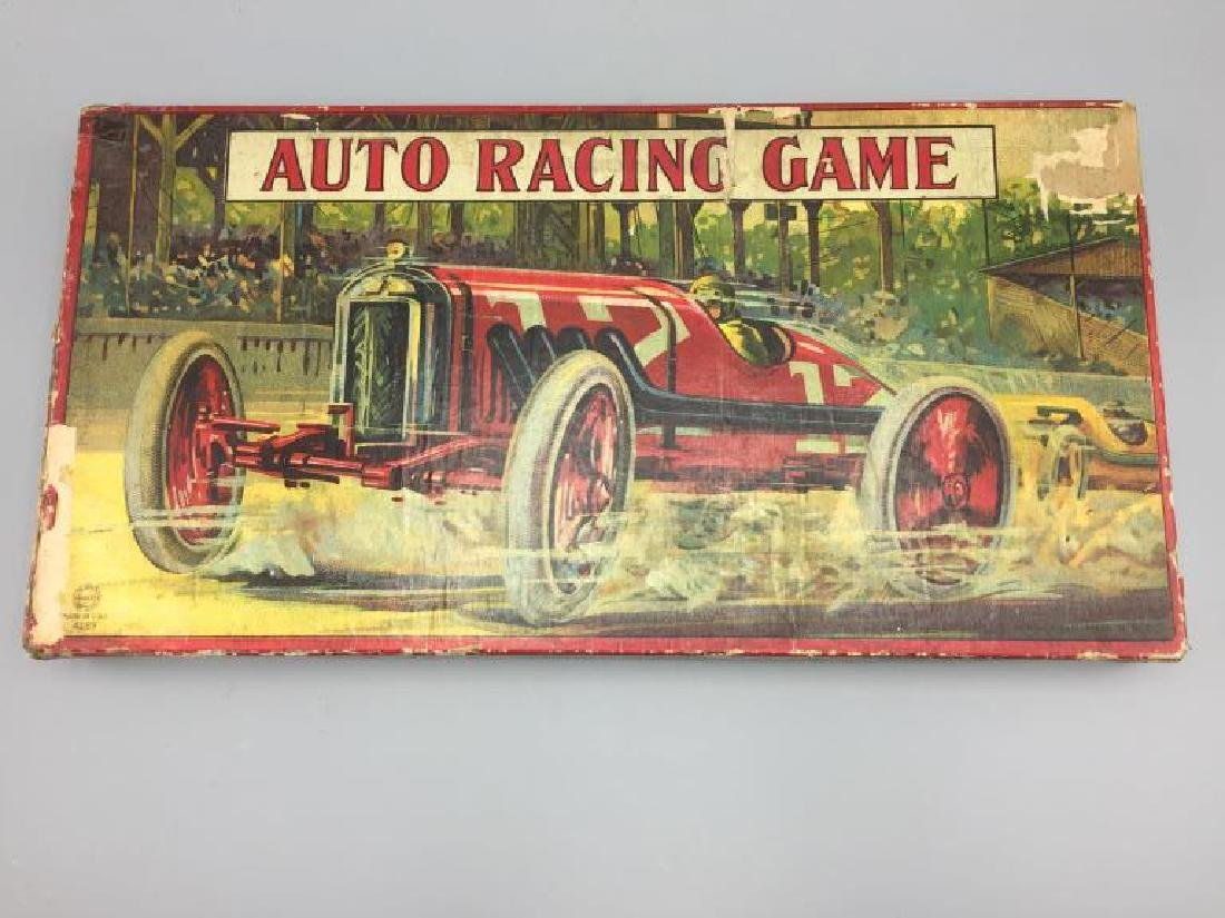 Early Milton Bradley auto racing game