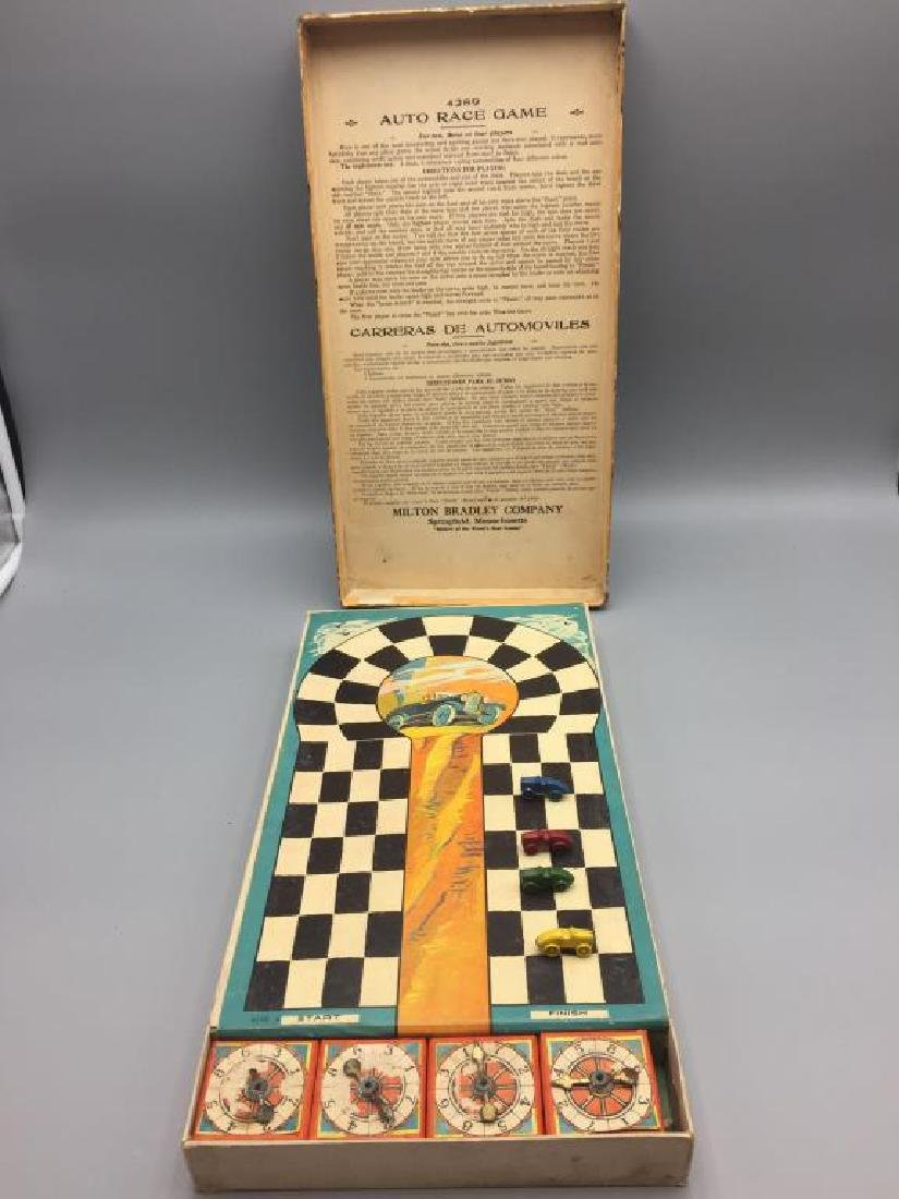 Early Milton Bradley auto racing game - 4