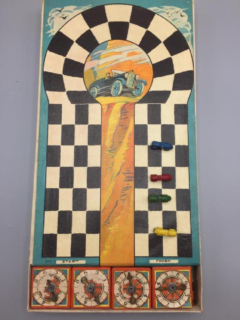 Early Milton Bradley auto racing game - 6