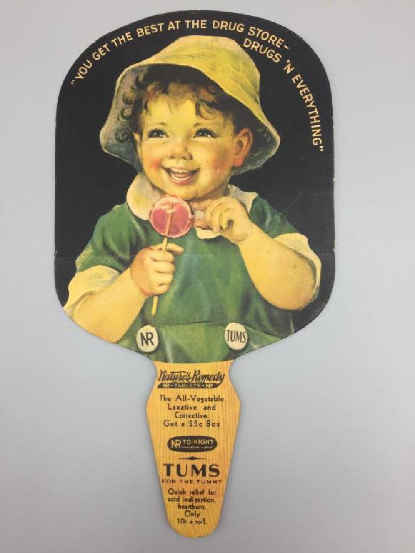 Tums tin advertising thermometer and fan - 4