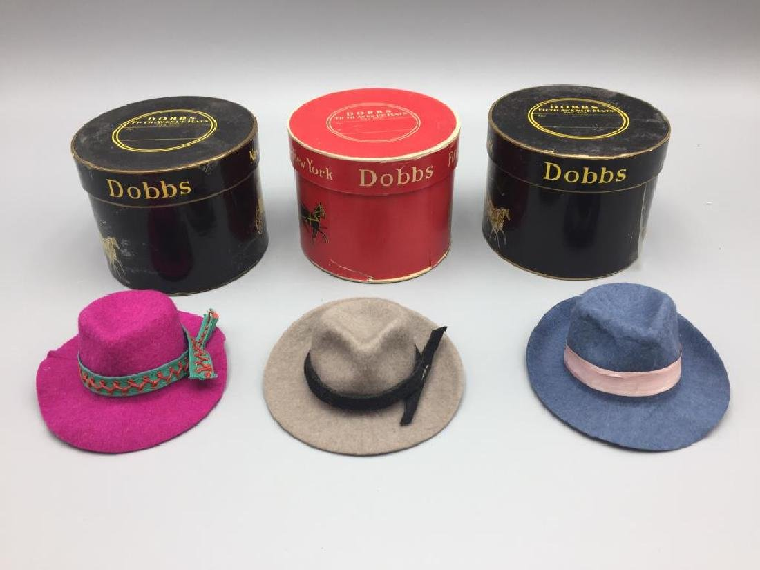 3 boxed gift certificate hats and boxes by Dobbs