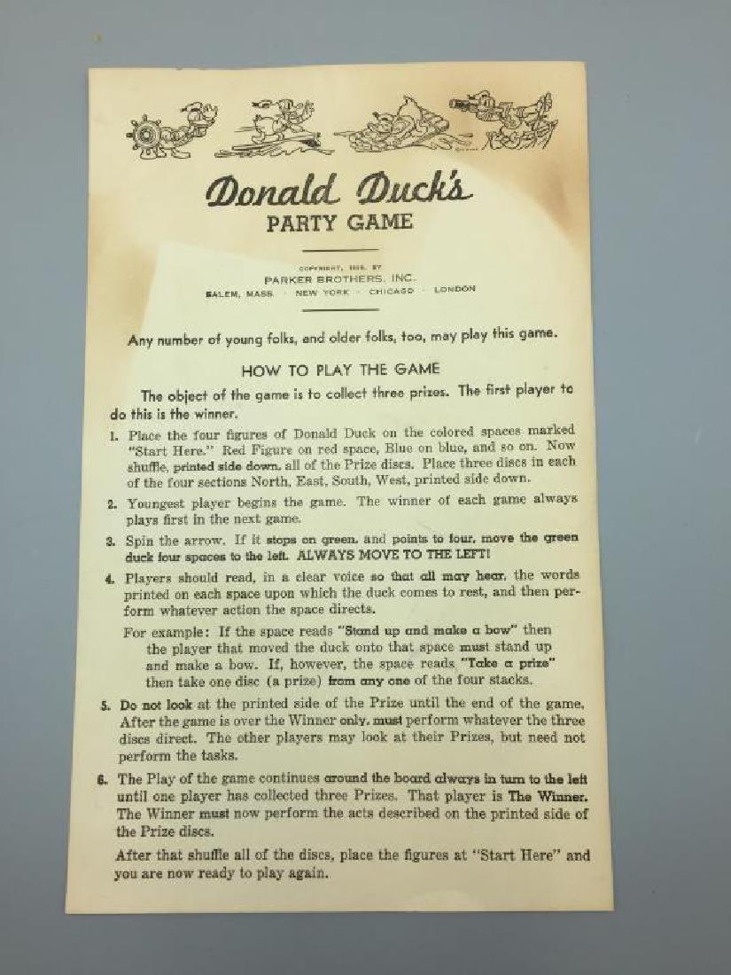 Parker Brothers 1930s Walt Disney Donald Duck - 10