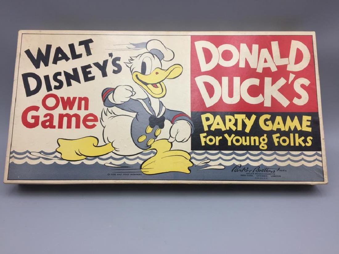 Parker Brothers 1930s Walt Disney Donald Duck - 6