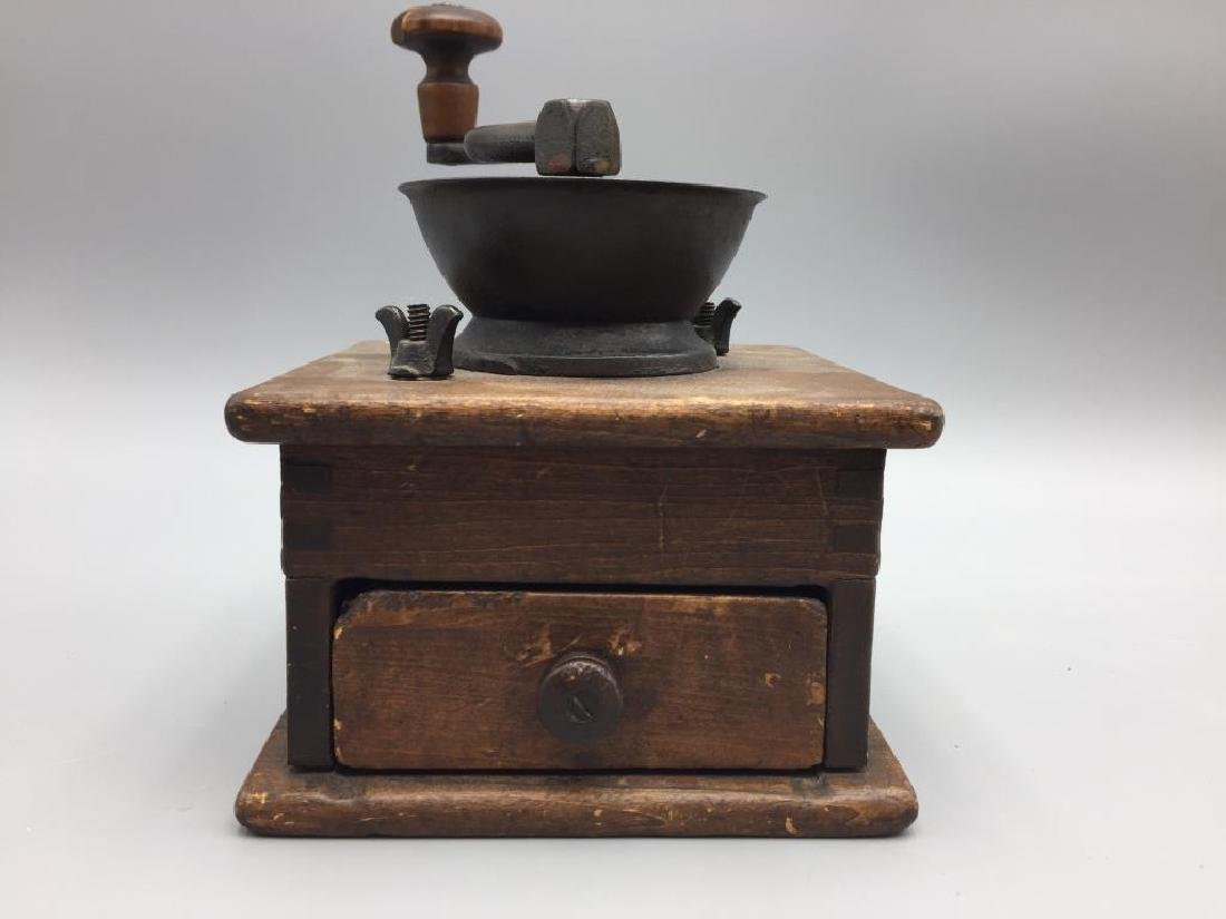Cast iron top box coffee grinder