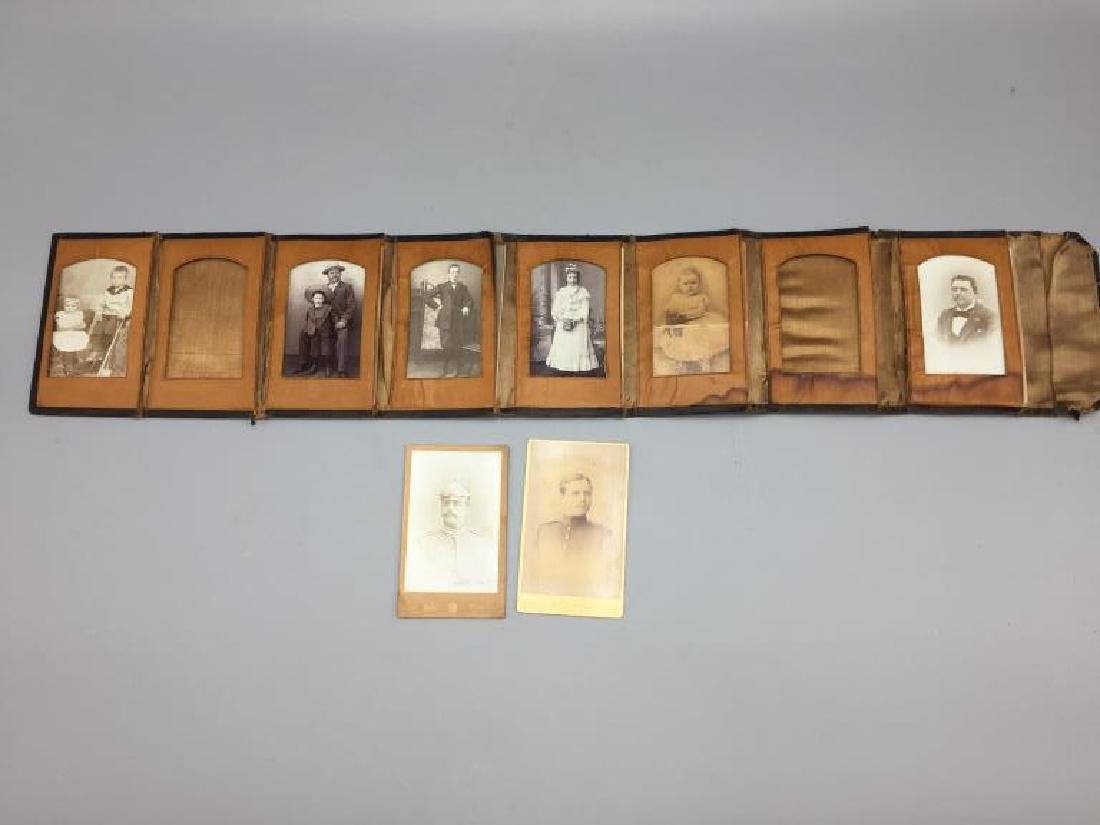 Imperial Germany soldier cabinet cards and family