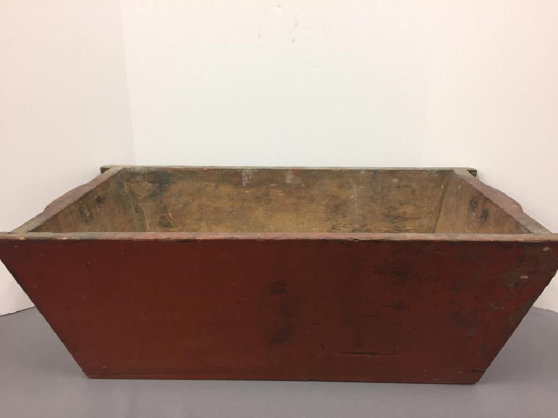 Red painted dough box
