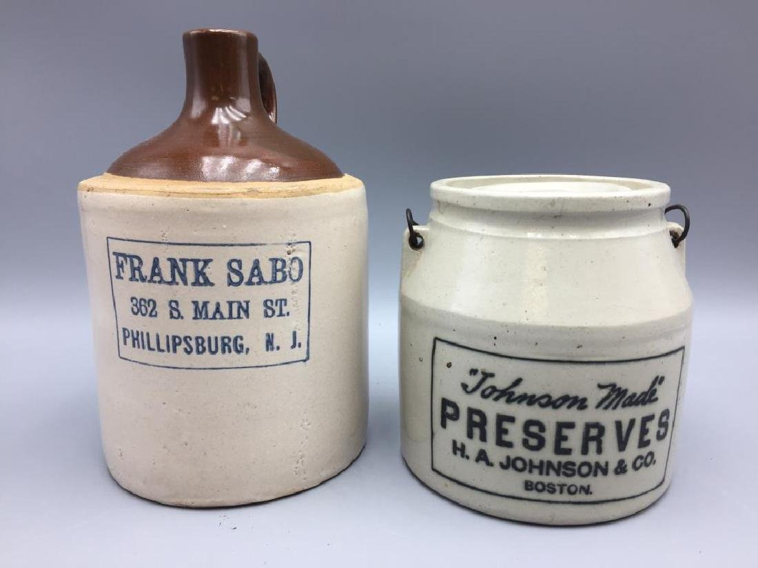 Advertising stoneware lot