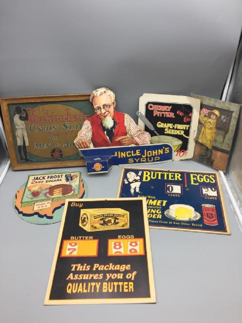 General store cardboard displays