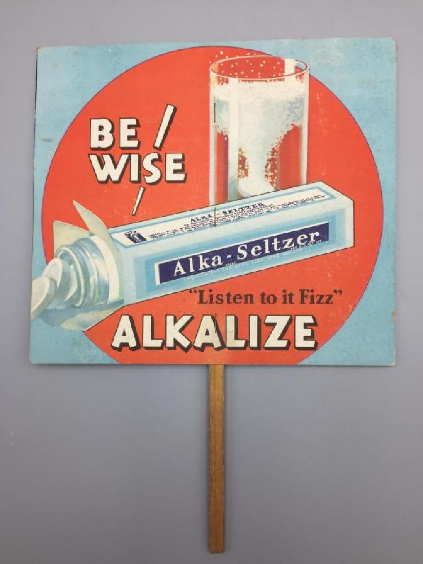 Alka Seltzer cardboard store display - 2