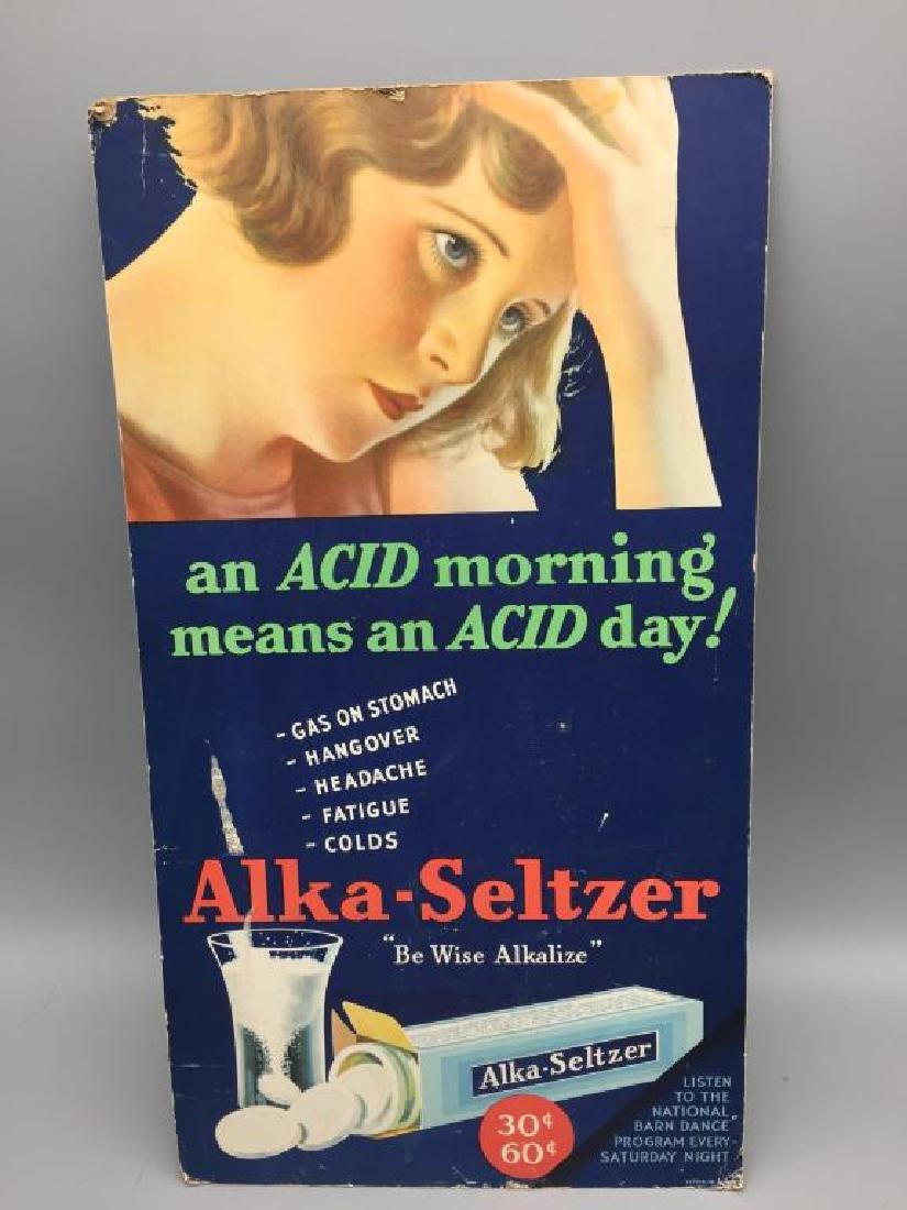 Alka Seltzer cardboard store display - 4