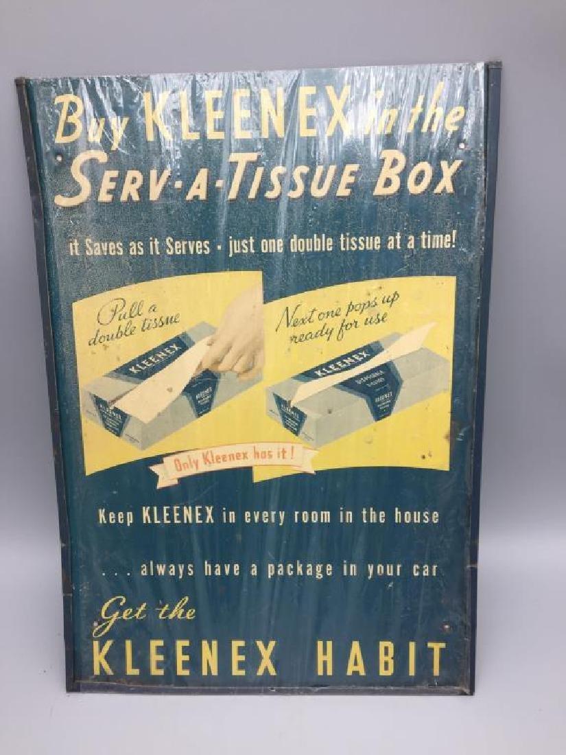 Kleenex tin litho store display