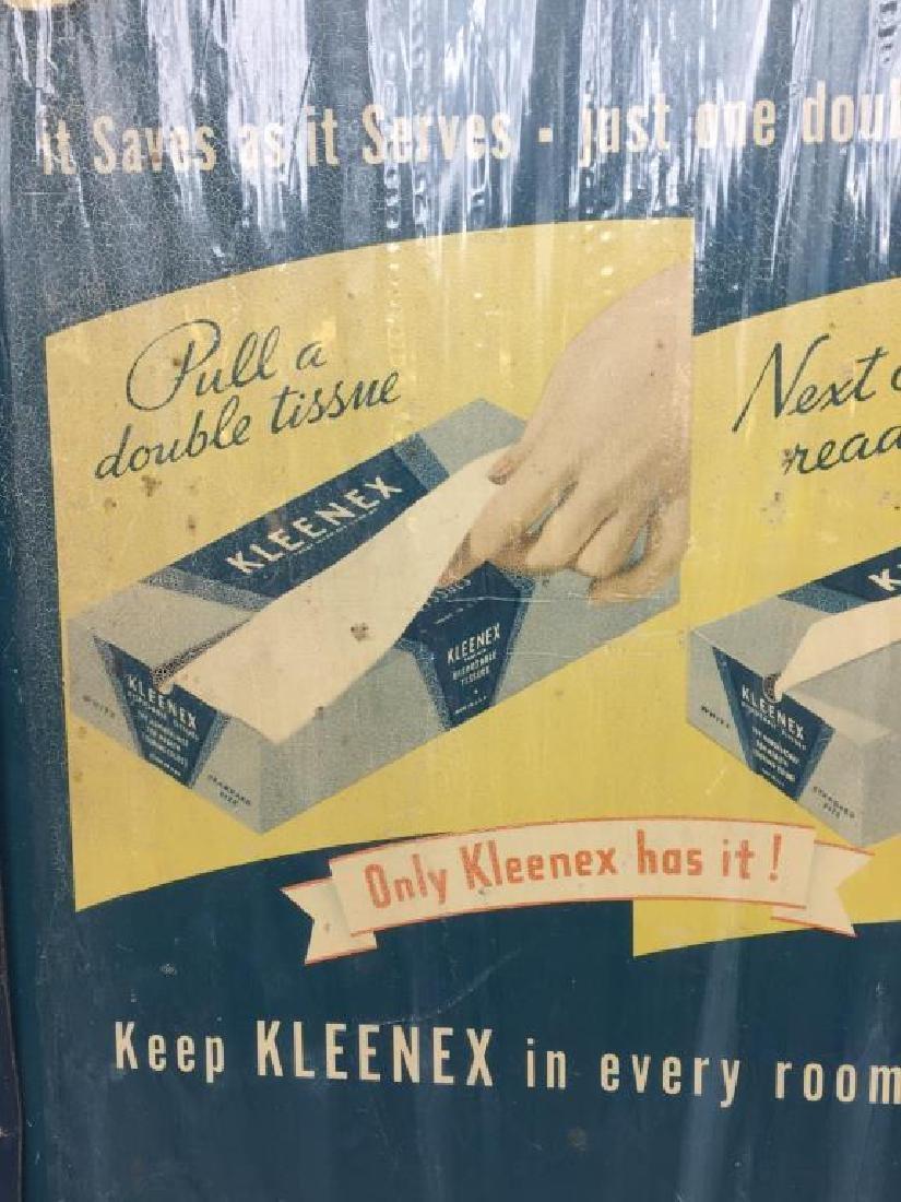 Kleenex tin litho store display - 2