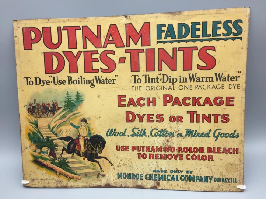 Putnam Dyes tin store display