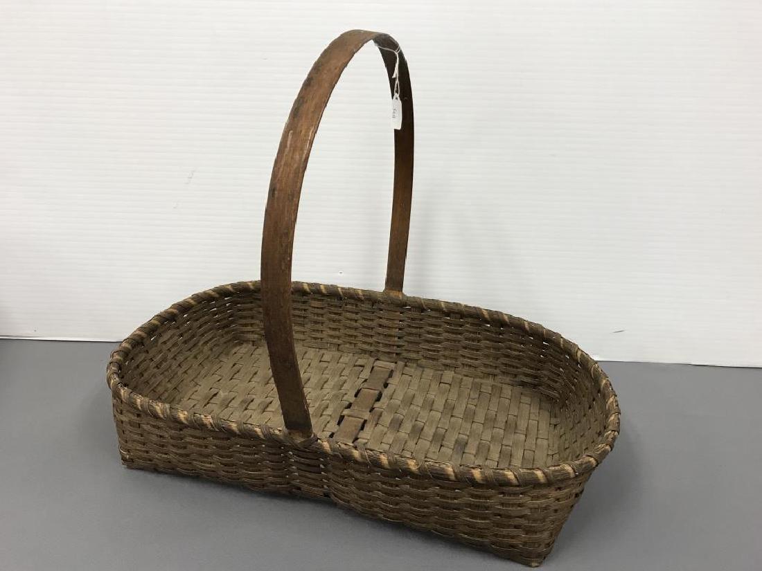 Antique split ink gathering basket