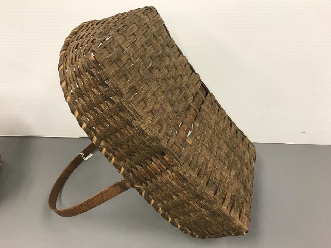 Antique split ink gathering basket - 3