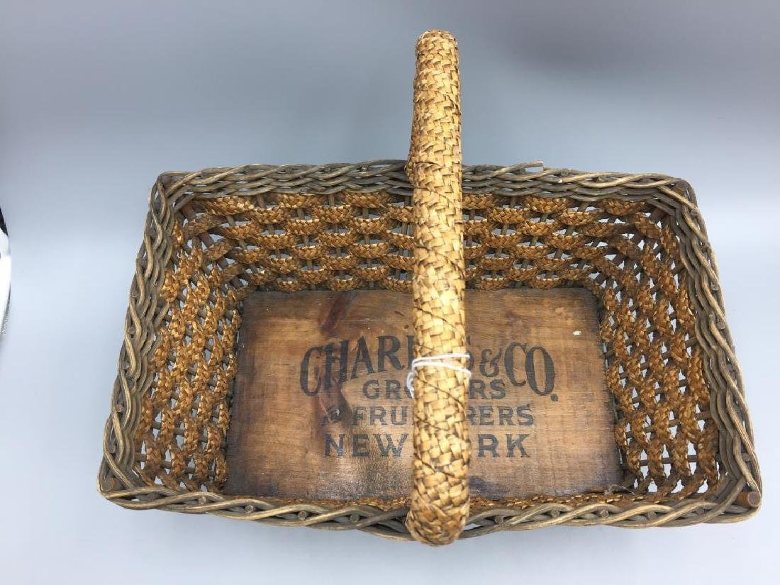 Early wicker advertising basket
